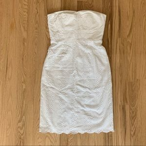 New! J.Crew White Lace Strapless Dress, Tall 4